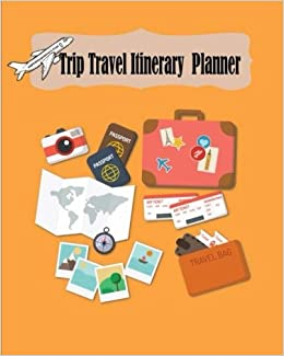 trip travel itinerary planner vacation trip travel itinerary