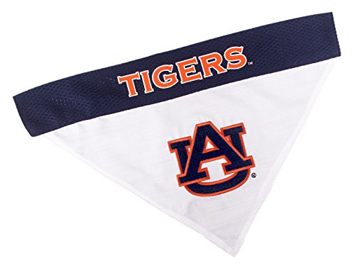 Pets First Collegiate Pet Accessories, Reversible Bandana, Auburn Tigers, Large/X-Large