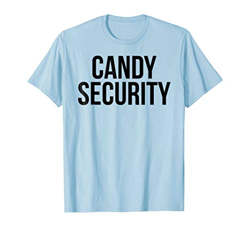 Candy Security Shirt for Dads Funny Halloween T-Shirt Men]()