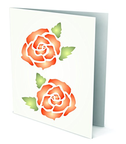 Rose Stencil - (size 3.25
