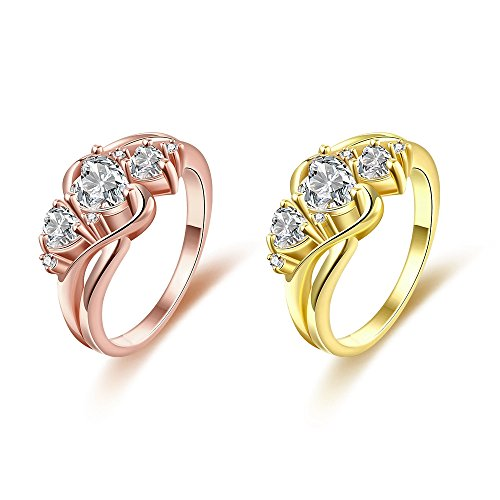 Jl Pretty 24k Yellow Gold Heart Shaped Princess Cubic Cz Diamond Wedding Ring Buy Online In Tunisia Jl Pretty Products In Tunisia See Prices Reviews And Free Delivery Over