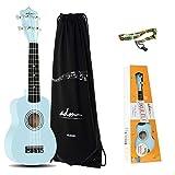 ADM Beginner Ukulele 21 Inch Soprano Kids Starter Pack Student Bundle Child Kit with Gig bag and Strap, Blue