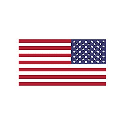 4 reverse american flag color sticker decal die cut