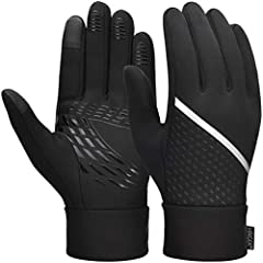 VBIGER Thickened Winter Gloves Touch Screen Gloves Cold Weather Gloves with Anti-slip Silicone and Stretchy Cuff (Negro, M)