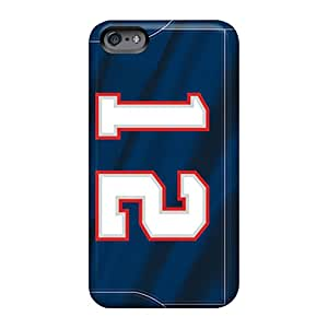 Bumper Hard Phone Cover For Apple Iphone 6 Plus With Support Your Personal Customized Nice New England Patriots Pictures MarcClements