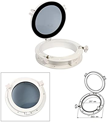 10/'/' White Boat Yacht Round Porthole Opening Window Port Hole