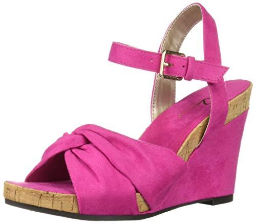 Wedge Cork Pink - Aerosoles A2 Women's Coral Plush Sandal, Pink Fabric, 8.5 M US