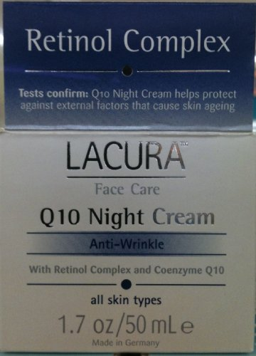 LaCura Q10 NIGHT FACE CREAM Anti-Wrinkle 1.7 oz. by Chom Anti Wrinkle Regenerative Cream