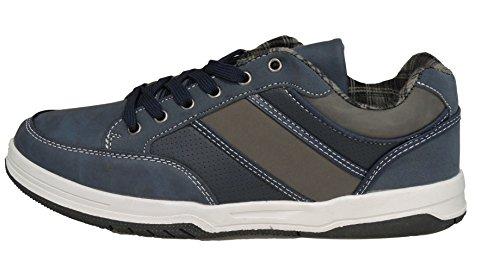 Uomo Inserti Trendy con sneaker Scarpa Golden's Invernale Walking Blu Modello IqwUH6E0