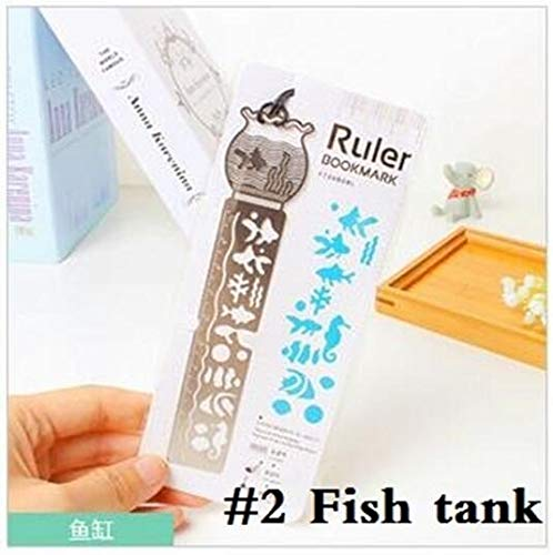 HeroStore 24pcs/lot Korea Zakka Vintage Hollow Style Stainless Steel Ruler Scale 10cm Bookmark DIY Tools Students' Gift Prize Stationery