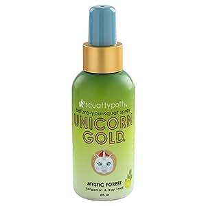 Squatty Potty Unicorn Gold Toilet Spray, Mystic Forest, 4 Ounce