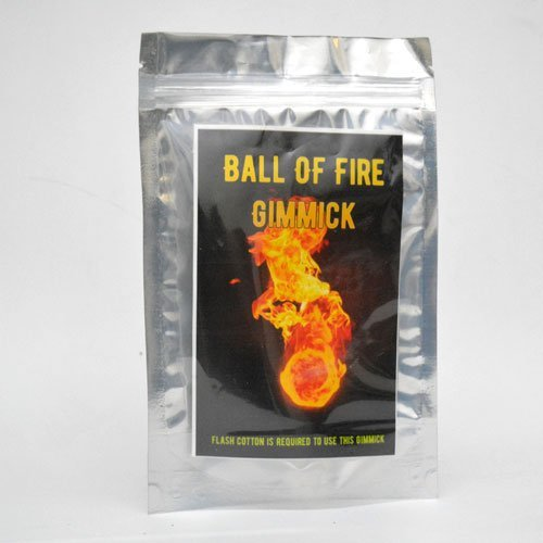 MilesMagic Magician's Ball of Fire Gimmick Fireball Gun Magic Trick (Flash Paper or Cotton Required)