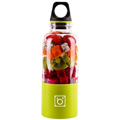 Bingo Personal Smoothie Blender Rechargeable Electric Juice Maker Portable Drink Mixer with 500ml Water Bottle for Office Outdoors Travelling