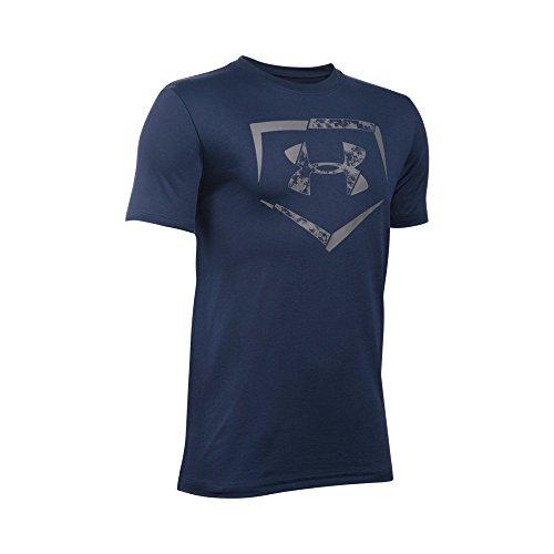 Under Armour Boys' Diamond Logo T-Shirt, Midnight Navy/Graphite, Youth Large