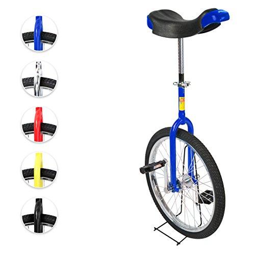 Physionics® Einrad 20 Zoll mit Alu-Stahlfelgen in fünf verschiedenen Farben