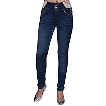 Sexy Couture IG43 Women's Light Wash Denim High Rise Ripped Skinny ...