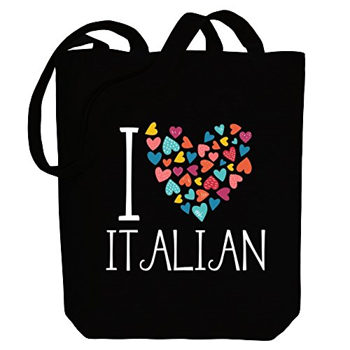Amo Bolsa De Idiomas Idakoos De Colores Italianos Lona Corazones TwdUqBz