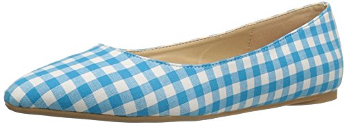 Penny Loves Kenny Women's Aaron Ii Ballet Flat, Blue/White, 9 W US Aaron II-45