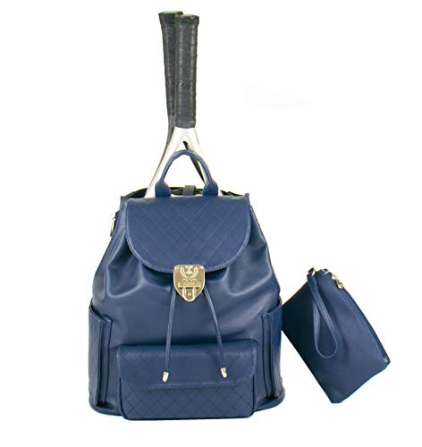 - Court Couture Hampton Quilted Tennis Backpack - Navy