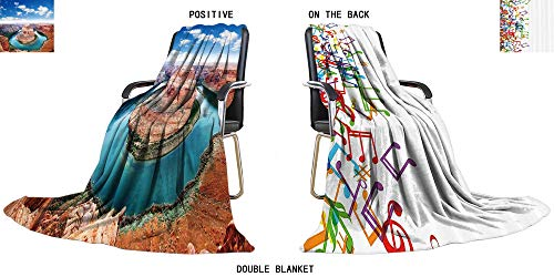 "SOCOMIMI Soft Plush Warm Duplex Printed Blanket Horse Shoe Bend,Page,Arizona,USA. Fleece Blanket for Bed or Couch 59"" W x 39.5"" H"