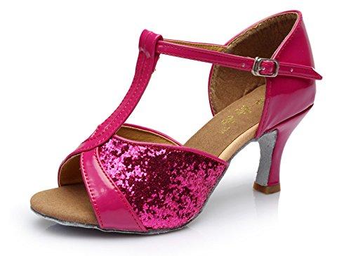 Med Satin Dance Salsa Latino Professionista Scarpe b Ballroom Shoe Della Sandali Delle Colori 41 Superiore Ragazza Donne altri OYPxwnz