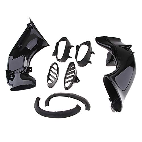 D DOLITY Motorcycle Air Intake Tube Duct Pipe Kit Left Right Side for Yamaha YZF R1 (2004-2006):