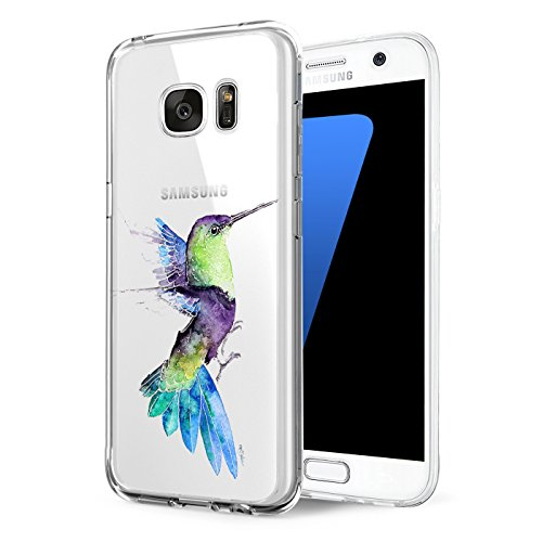 Price comparison product image Samsung Galaxy s7/s7 Edge case Ultra-Thin Transparent Soft TPU Silicone Transparent Rubber Cover Protector Absorption Back Scratch-Resistant to Animal Version (Galaxy s7 dege, 7)