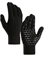 Perfeclan Winter Knit Gloves Touchscreen Anti-Slip for Cycling Running Driving Riding Hiking Outdoor Sports Men Women - Select Colors