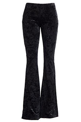 Velvet Bell Bottom Pants - 2