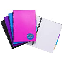 Tiger A4 project notebook (4 subjects) with plastic cover x 1 single book