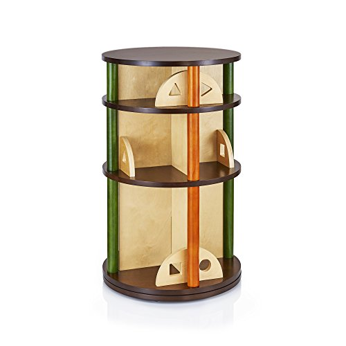 Guidecraft See and Store Media Carousel - Book, Toy Display and Storage, School Wooden Furniture