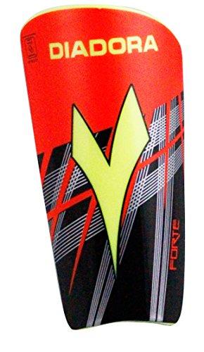 Diadora Forte Shin Guard (Black / Matchwinner / Fluo Orange, Small ,7