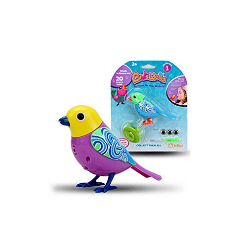 E-SCENERY Sound Voice Control Activate Chirping Singing Bird, Funny Gift Toy For Kids Child (Purple)