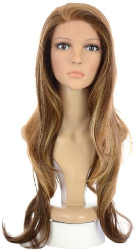 Hair by MissTresses Long Blonde Brown Wavy Lace Front Wig  ba6b20d56