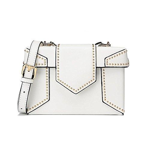 single cross female E Axiba Rivet bags Women bag shoulder diagonal chain fashion P4zIF04