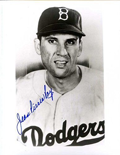 Jean-Pierre Roy (D.) Autographed /Original Signed 8x10 Photo Showing Him w/ the 1946 Brooklyn Dodgers - He is a Member of the Montreal Expos Hall of - 1946 Denim