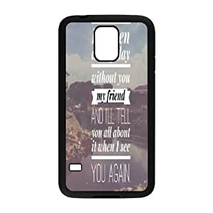 See you again Fast and furious Paul Walker phone Case Cove For Samsung Galaxy S5 XXM9942358