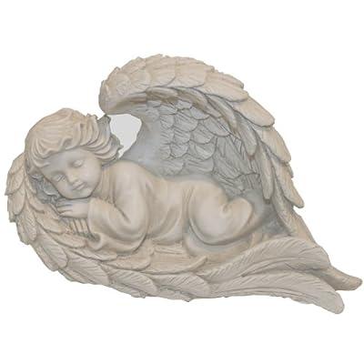 Napco Lying Angel in Wing Garden Statue, 8-1/2-Inch Long : Outdoor Statues : Garden & Outdoor