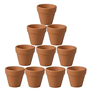 Ounona, Macetas de terracota para flores, planta suculentas, cactus. Paquete de 10 unidades