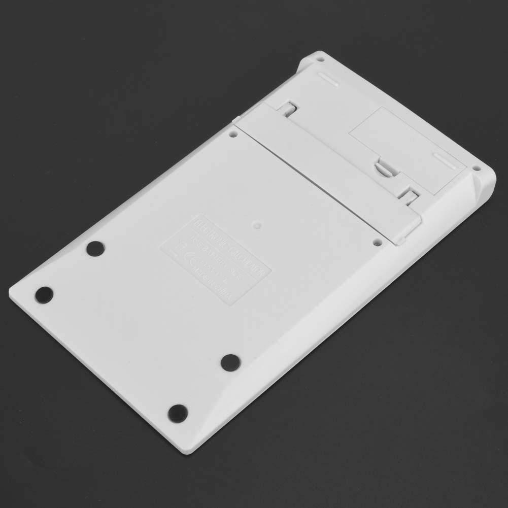 Student Scientific Desktop Solar y bater/ía Calculadora Blanca de Doble Potencia con bot/ón de Cristal Alinory Calculator