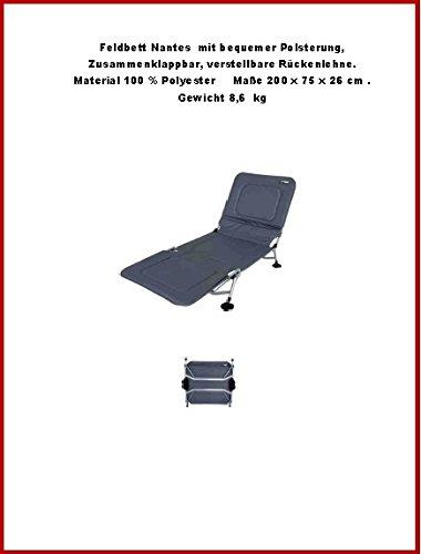 TOTAL BEQUEM DIE GEPOLSTERTE STABIELO bequeme klappbare transportable LIEGE ELOXIERT mit verstellbarer Rückenlehne als CAMPINGBETT - STABIELO Belastung ca. 120 Kilo - VERTRIEB - Holly ® Produkte STABIELO - AUSFÜHRUNG EXKLUSIV - ALUMINIUM - PREIS NUR SO LANGE VORRAT REICHT - GEGEN AUFPREIS mit HOLLY FÄCHERSCHIRMEN AUF ANFRAGE - holly sunshade -