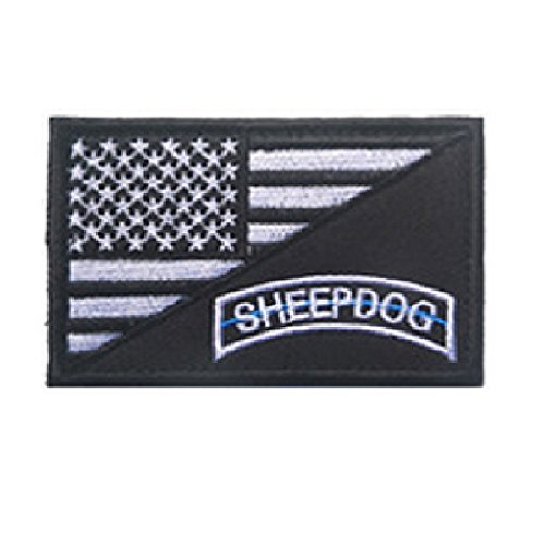 sheepdog american flag patch military