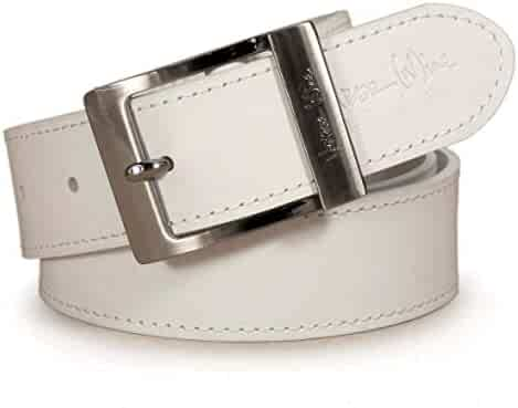 CU8 Mens Real Genuine Leather Belt Black Brown White 1.5 Wide S-XL Casual Jeans