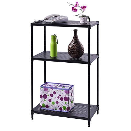 (Neru Shop Steel 3 Layer Rect Shelf Storage Rack Furniture Bathroom Kitchen Organizer)