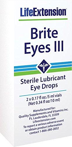 Life Extension Brite Eyes Iii Vials (5 Ml Each), 2-Count (Pack of 4)