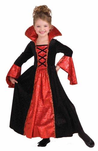 Red Queen Costume Makeup (Forum Novelties Vampire Princess Costume Dress, Child Medium)