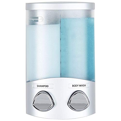 Better Living Products 76234-1 DUO 2-Chamber Shower Dispenser, Satin Silver