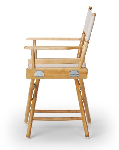 Telescope Casual World Famous Dining Height Director Chair, Natural with Varnish Frame