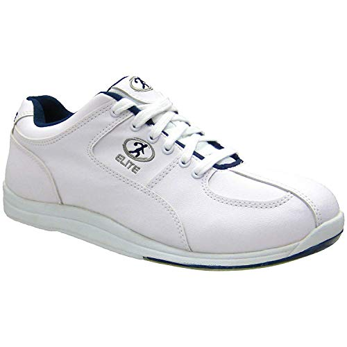 Elite Atlas Blue Men's Bowling Shoes - Quality & Comfortable - Universal Slide Sole for Left & Right Handed Bowlers (Size 8)