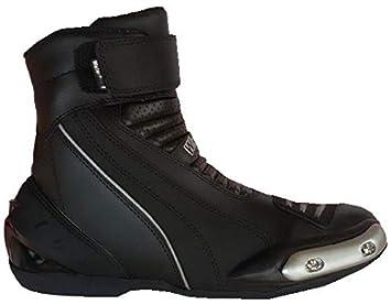 d7eef4a7a2710 WinNet Stivali stivaletti bassi scarpe modello Falco in pelle nera per  moto  Amazon.it  Auto e Moto